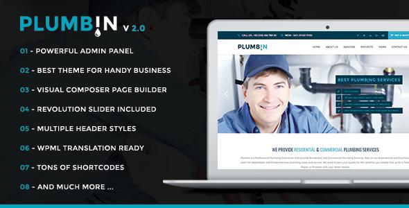 Plumbin - Plumbing and Construction WordPress Theme