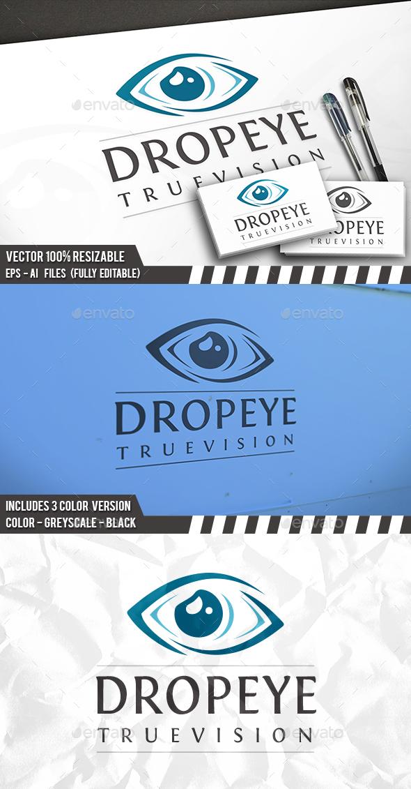 Eye Drop Logo Template
