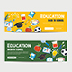 Education Banner and Back to School Background Template - GraphicRiver Item for Sale