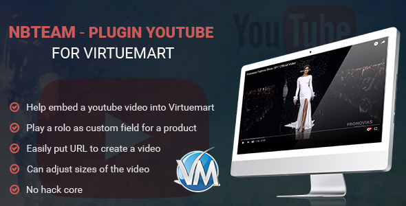Plugin Youtube For Virtuemart