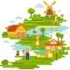 Farm Garden Background  - GraphicRiver Item for Sale