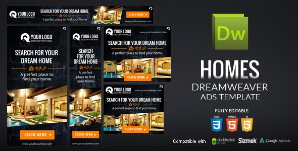 Szablon reklam Dreamweaver Homes