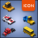 Isometric Car Icons Pack - GraphicRiver Item for Sale