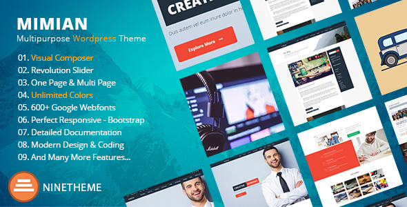 Simple Business WordPress Theme - Mimian