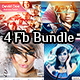 4 Abstract Facebook  Timeline Cover Bundle - GraphicRiver Item for Sale