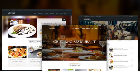 Cristiano | Restaurant WordPress Theme