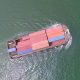 Aerial View Of Container Ship - VideoHive Item for Sale