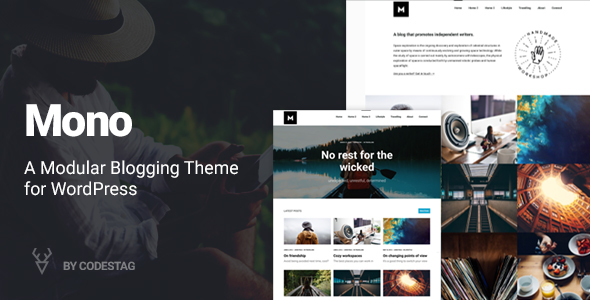 Mono - A Modular Blogging Theme for WordPress
