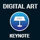 Digital Art Keynote Presentation Template - GraphicRiver Item for Sale