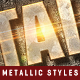 Metallic Text Styles V.4 - GraphicRiver Item for Sale