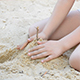 Little Girl Playing In The Sandbox 1 - VideoHive Item for Sale