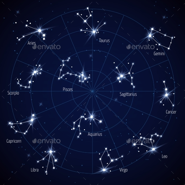 bad742d4f Constellations Graphics, Designs & Templates from GraphicRiver