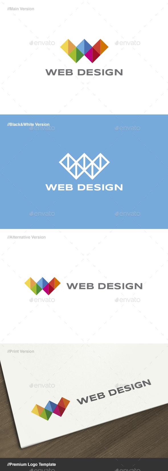 Web Design 3 - Letter W Logo