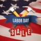 Labor Day Sale Background Template. - GraphicRiver Item for Sale