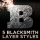Blacksmith Layer Styles - GraphicRiver Item for Sale