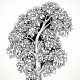 Graphically Drawing Black Ink Tree With Bushy - GraphicRiver Item for Sale