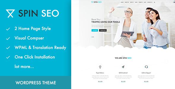SPIN SEO - SEO & Business WordPress Theme!