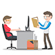 Office Workers on Desk - GraphicRiver Item for Sale