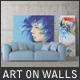Art On Walls - Canvas Mockups - Frame Mockups - Wall Mockups Vol 3 - GraphicRiver Item for Sale