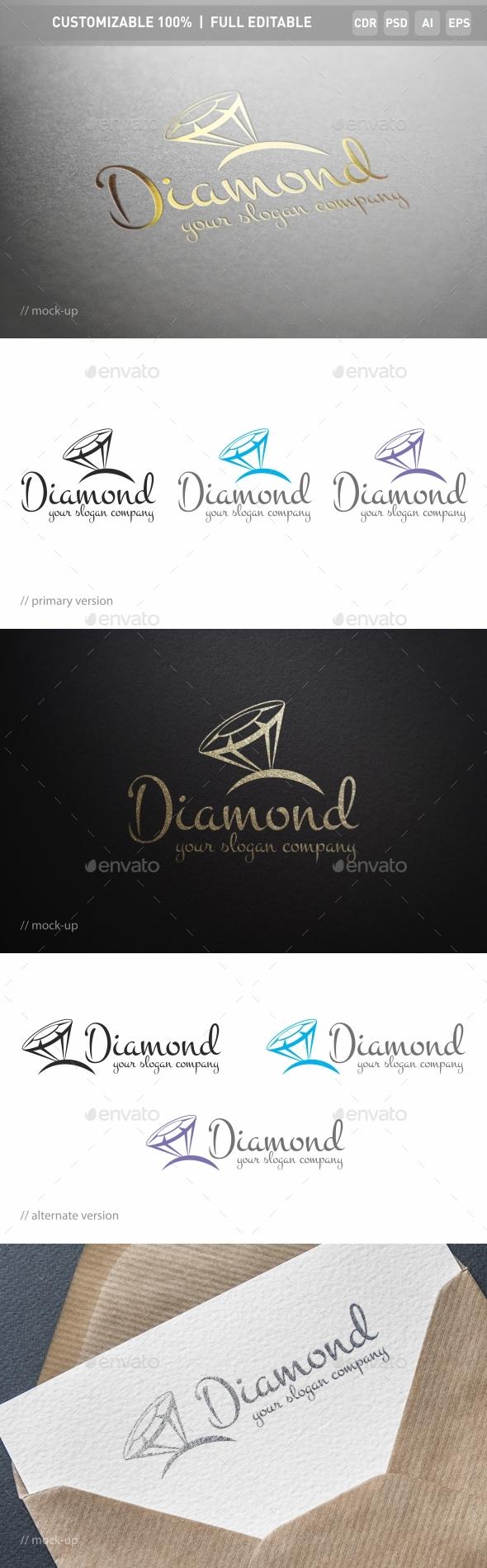 Diamonds Logo Template