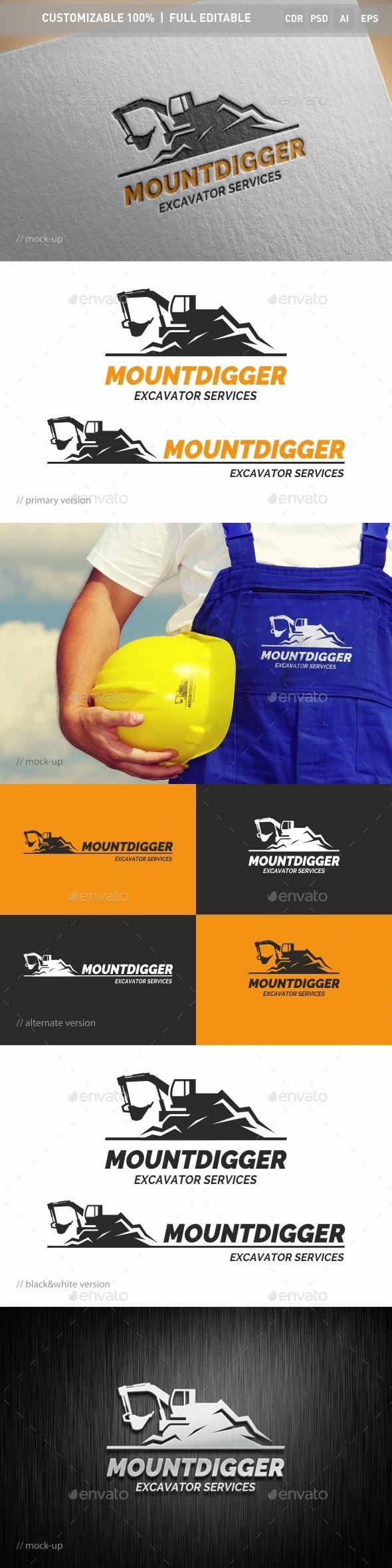 Mountdigger Logo Template