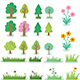 Nature Trees Grass and Flowers - GraphicRiver Item for Sale