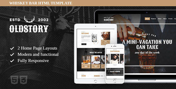 OldStory - Whisky Bar | Pub | Restaurant Site Template