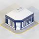 LOW POLY LOOK CORNER STORE SHOP - 3DOcean Item for Sale