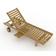 Lounger with Tray - 3DOcean Item for Sale