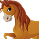 Brown Pony Horse - GraphicRiver Item for Sale