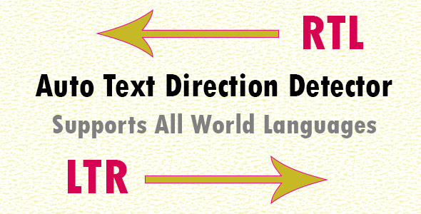 Auto Language Direction Detector - PHP Class