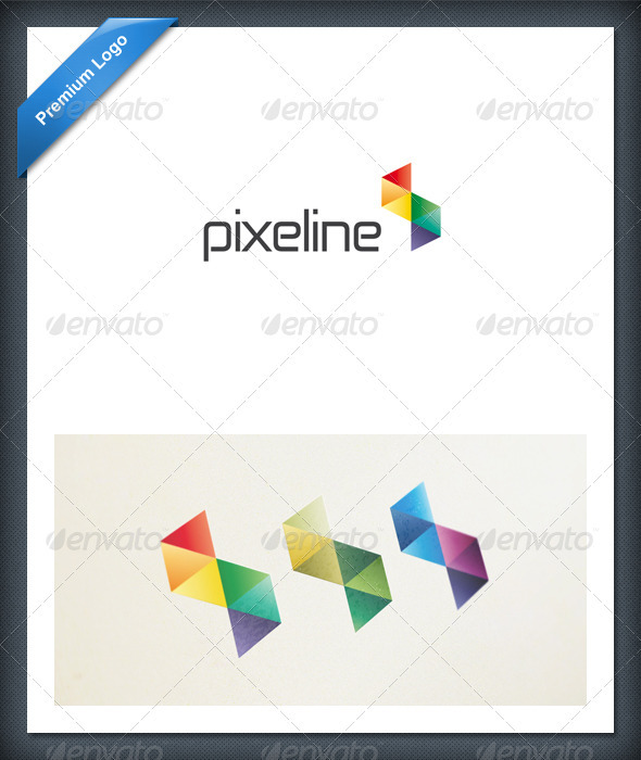 Abstract Pixel Colorful Logo Template