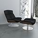 Black leather KARA armchair - 3DOcean Item for Sale