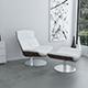 White leather KARA armchair - 3DOcean Item for Sale