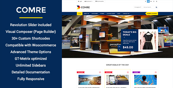 Comre - Coupon Codes & Affiliates WordPress Theme