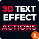 3D Text Effect Photoshop Actions - GraphicRiver Item for Sale