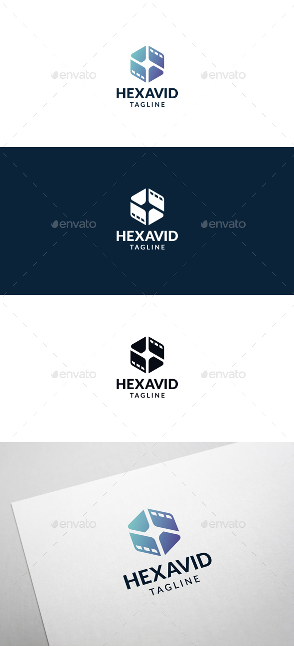 Hexa Video Logo Template