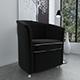 Black velvet armchair - 3DOcean Item for Sale