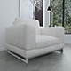 Linen covered armchair - 3DOcean Item for Sale