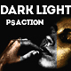 Dark Light Effect with Gold Silver and Bronze Skin Photoshop Action - GraphicRiver Item for Sale