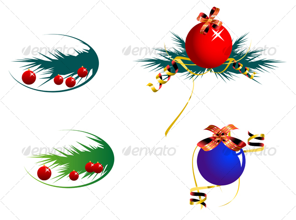 Set of color decoration balls