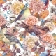 Vintage Watercolor Seamless Pattern With Birds And - GraphicRiver Item for Sale