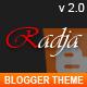 Radja - Responsive Blogger Template - ThemeForest Item for Sale