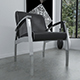 Black leather and chrome chair - 3DOcean Item for Sale