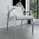 White leather and chrome chair - 3DOcean Item for Sale