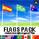 Realistic Worldwide Flag Pack  - 3DOcean Item for Sale