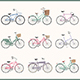 Bicycle Icons Set and Cards with Bicycles - GraphicRiver Item for Sale