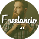 Freelancio - Creative One Page PSD Template - ThemeForest Item for Sale