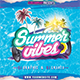 Summer Vibes CD Cover Template - GraphicRiver Item for Sale
