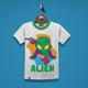 Alien Kids T-Shirt Design - GraphicRiver Item for Sale